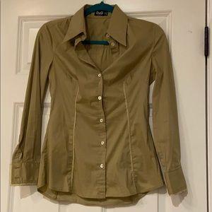 D & G button up lace trim blouse top dolce gabbana